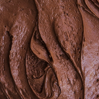 Chocolate ice cream texture
