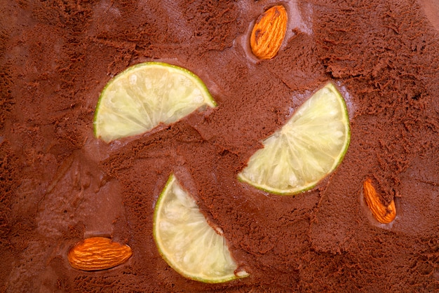 Текстура шоколадное мороженое.