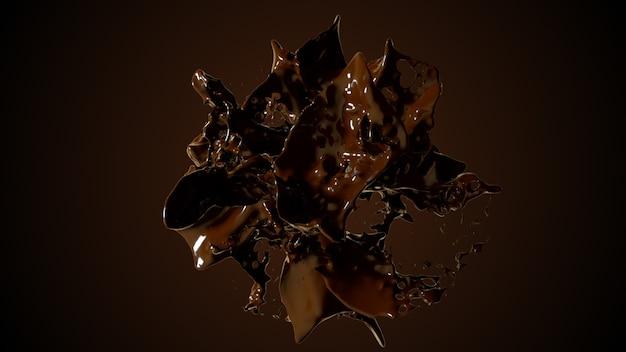 Взрыв шоколадной жидкости