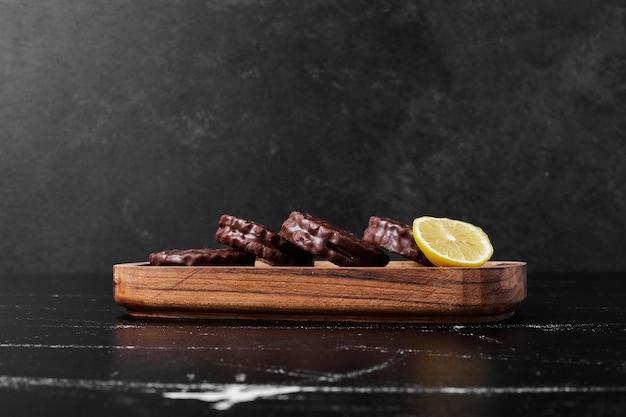 レモン入りチョコレートマシュマロクッキー。