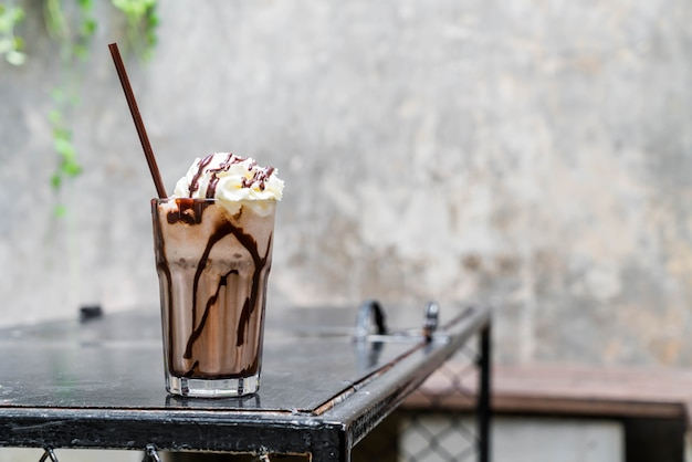 Chocolate milkshake smoothies