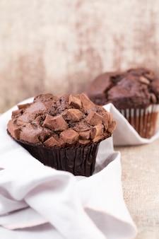 チョコレートとチョコレートのマフィン