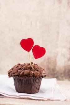 心とチョコレートのマフィン