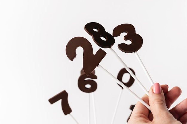 Chocolate numbers on a stick