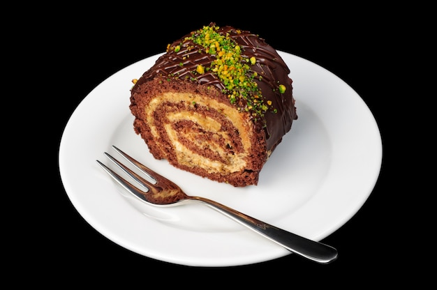 Chocolate and nut roll