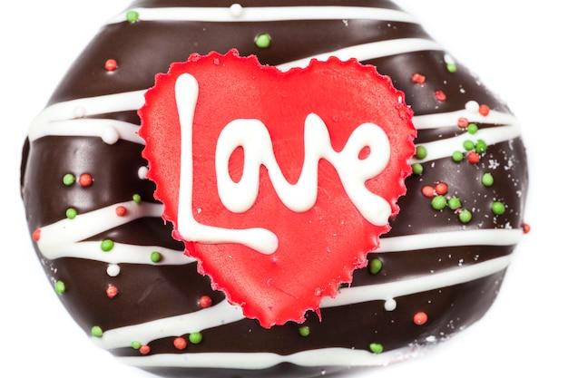 마음에 사랑의 초콜릿.