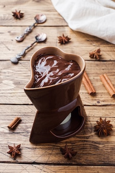 Chocolate paste with cinnamon and anise