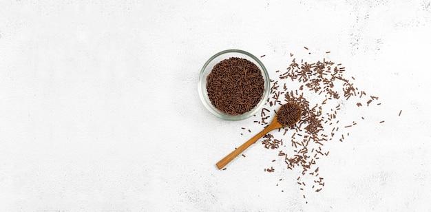 Chocolate pellets for sprinkles