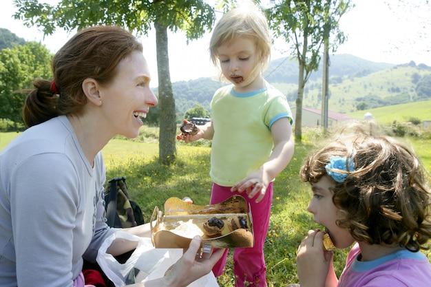 Chocolate picnic birthday family party