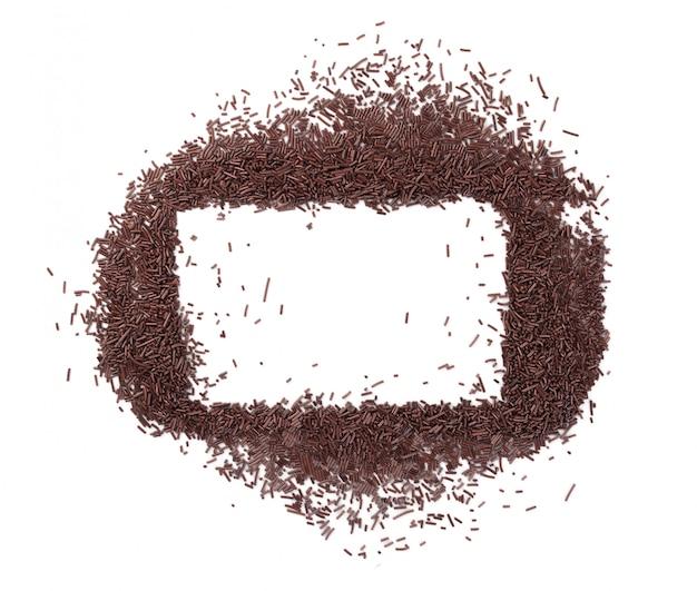 Chocolate sprinkles frame