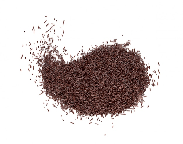 Chocolate sprinkles isolated