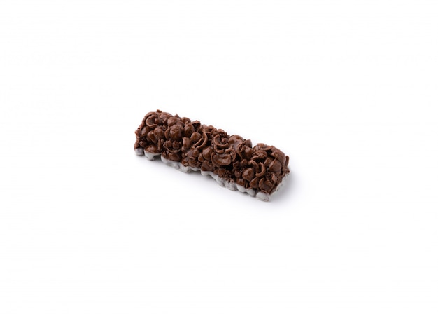 Chocolate stick on isolated white