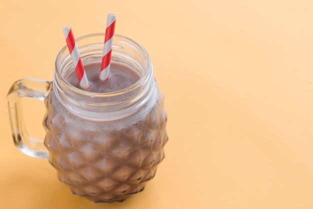 Chocolate summer drink top view