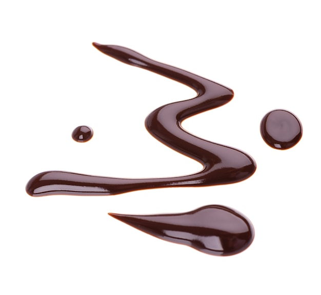 Шоколадный сироп моросит изолированные