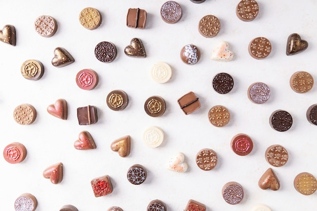 Chocolate valentines candies