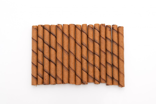 Chocolate wafer stick roll