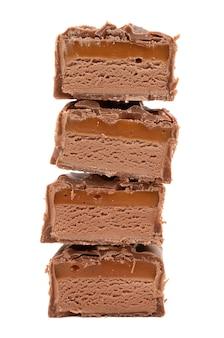 흰색에 카라멜 초콜릿