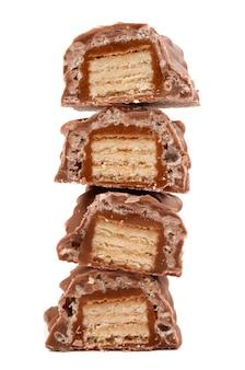 白にキャラメルとチョコレート