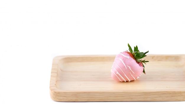 Chocolated coated strawberry