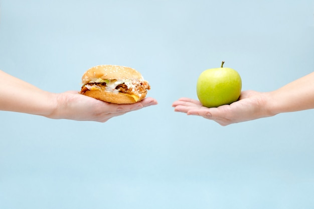 Choice between good and bad food