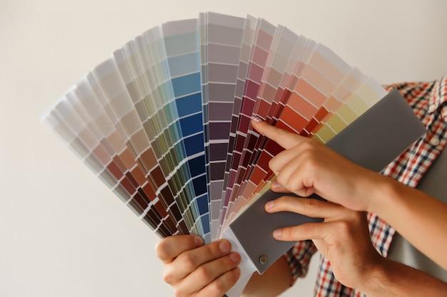 カラーパレットで壁を塗るための色の選択