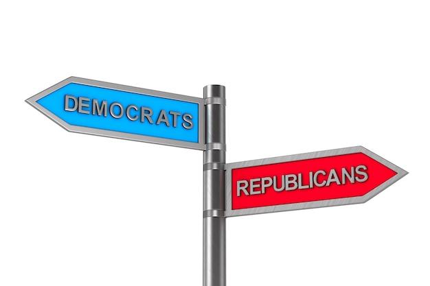 Choice between republicans and democrats