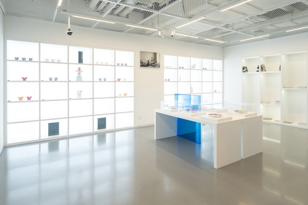 Chongqing, china, january 2, 2021:indoor space of chongqing art museum library