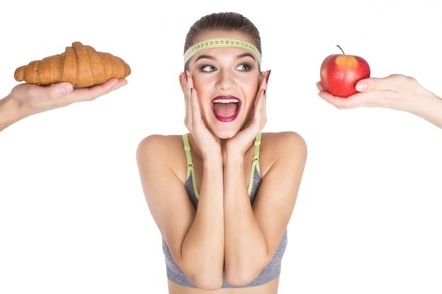 食べ物はスリムな誘惑を失う選びます