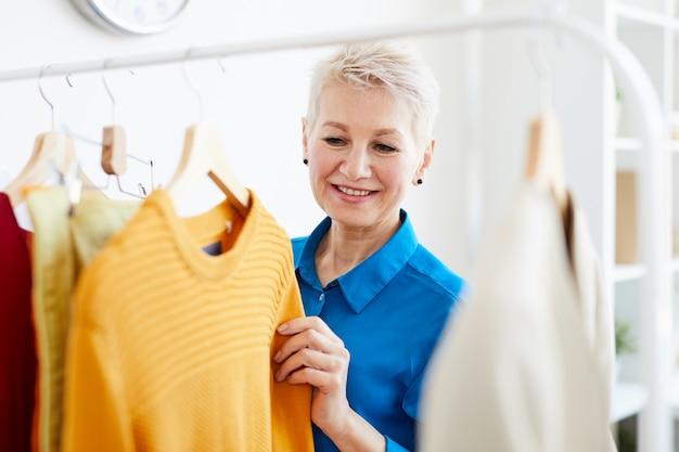 Choosing casual clothes