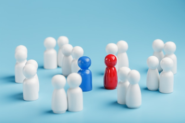 Choosing a partner for a relationship from such a surrounding crowd of people.