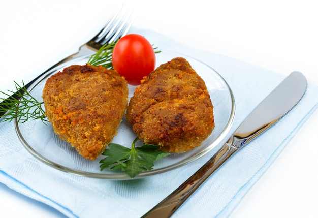Chopped chicken cutlets