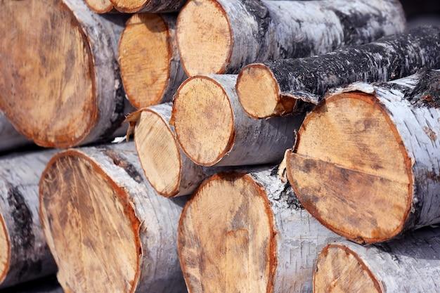 Рубленые на костер березовые дрова