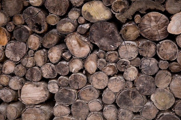Chopped wood texture. firewood background.