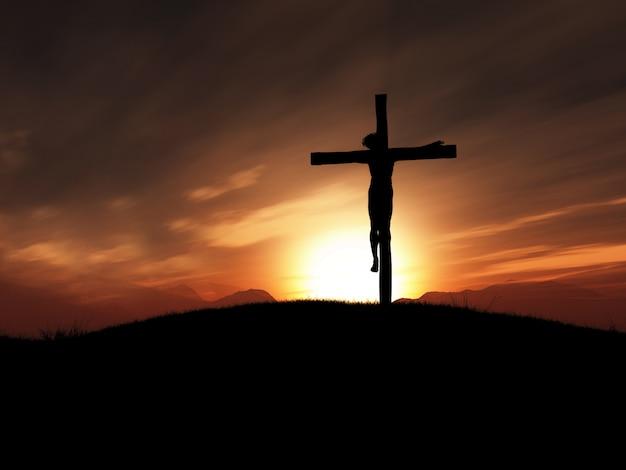 십자가에서 십자가에 못 박히신 그리스도