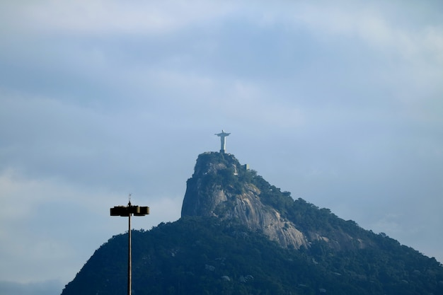 Christ the redeemer, the art deco statue of jesus christ on corcovado mountain in rio de janeiro
