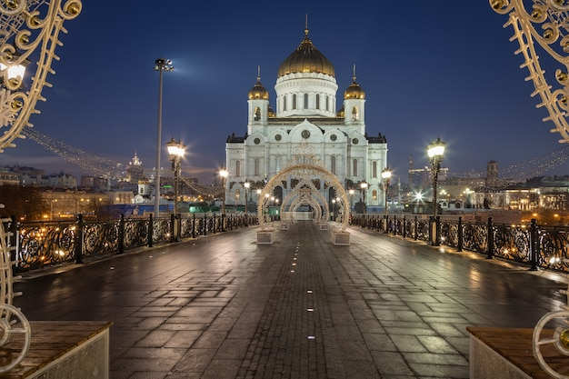 Christ the saviour cathedral in the morning moscow russia