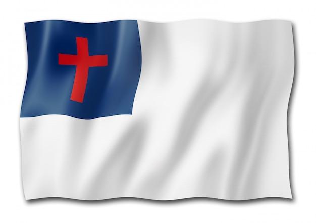 Christian flag isolated