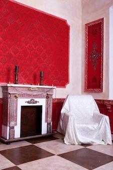 Christtimas interni in rosso vintage camera studio shot