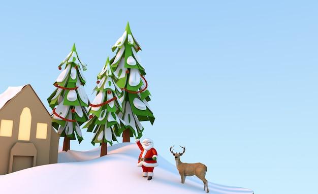 Christmas 3d illustration