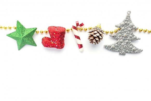 Christmas accessory on white background