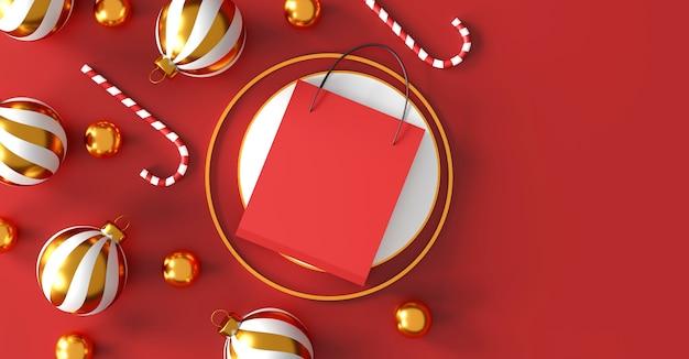 Рождество и новый год фон 3d иллюстрация