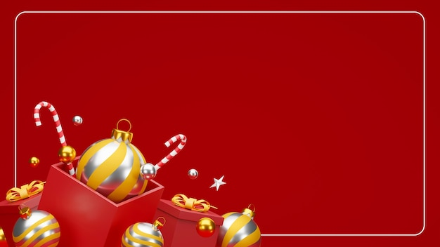 Рождества и счастливого нового года фон с праздничным оформлением и копией пространства.