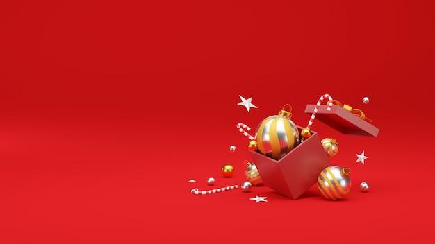 お祝いの装飾とコピースペースでクリスマスと新年あけましておめでとうございますの背景。