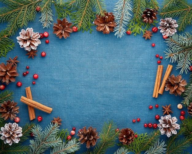 クリスマスと新年あけましておめでとうございますダークブルー