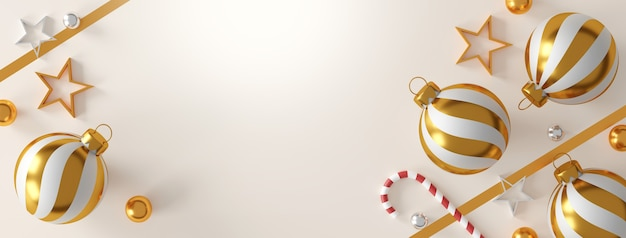 Рождественские и счастливые новогодние украшения на белом фоне