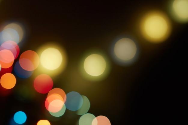 Рождество и новогодний праздник боке фон с copyspace. абстрактный праздничный фон.
