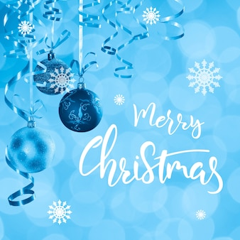 手レタリングテキスト付きのクリスマスと新年のホリデーカード