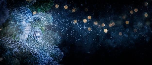 装飾品とクリスマスと年末年始の背景