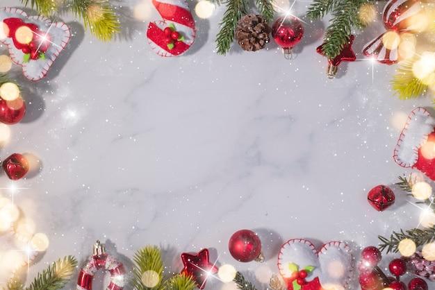 クリスマスと新年の休日の背景。