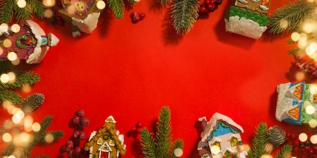 Рождественские и новогодние праздники фон.